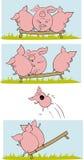 Grappige varkens comix Stock Afbeelding