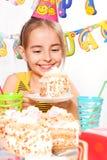 Grappige verjaardagspartij Stock Foto