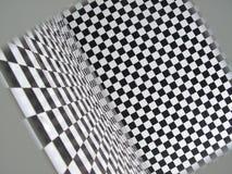 Grappige vierkante patroonruimte   Stock Fotografie