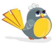Grappige vogel Royalty-vrije Stock Afbeelding