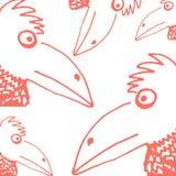 Grappige vogel stock illustratie