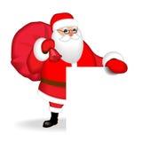 Grappige vriendschappelijke Santa Claus over witte spatie Isoleer, zonder gradiënten vector illustratie