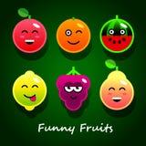Grappige vruchten Royalty-vrije Stock Afbeelding