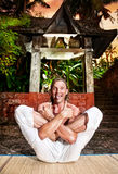 Grappige yoga stock fotografie