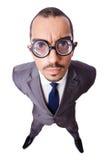 Grappige zakenman Royalty-vrije Stock Afbeelding