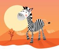 Grappige zebra royalty-vrije illustratie