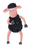 Grappige zwart schapen Stock Foto