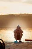 Grappige zwemmer Royalty-vrije Stock Foto
