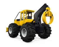 Grapple Skidder Isolated Stock Image