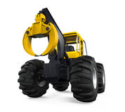 Grapple Skidder Isolated Stock Photos