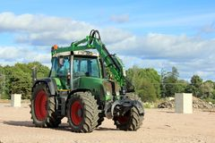 Grapple Tractor at Construction Site stock photography