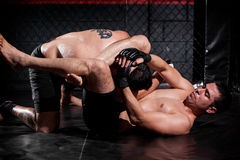 Grappling and controlling his rival Royalty Free Stock Photography