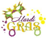 Gras της Mardi με πολλά χρωματισμένα σημάδια