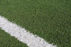 Gras 2 van de voetbal Stock Fotografie