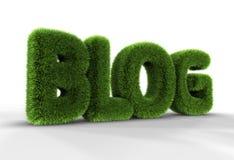 Gras-Blog-Wort stock abbildung