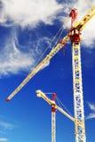 Grúas de construcción Imagen de archivo libre de regalías