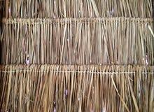 Gras decken Dachmusternahaufnahme mit Stroh stockbilder
