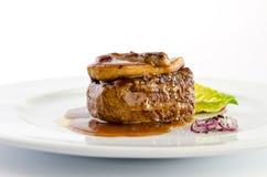 Gras del foie de la carne de vaca Fotografía de archivo