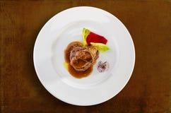 Gras del foie de la carne de vaca Foto de archivo libre de regalías