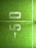 Gras des amerikanischen Fußballs Stockbild