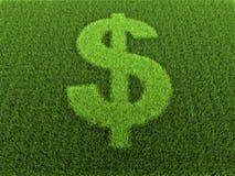 Gras-Dollar-Zeichen lizenzfreie abbildung