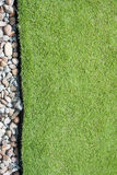 Gras en kiezelstenen Stock Afbeeldingen