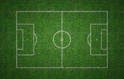 Gras-Fußball-Neigung Stockfoto
