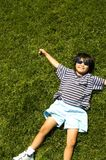 Gras Gelukkige 2 Royalty-vrije Stock Foto's