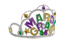 gras mardi冠状头饰白色 免版税库存图片