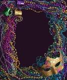 成串珠状gras mardi屏蔽 免版税图库摄影