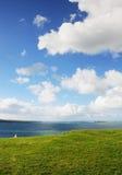 Gras, Meer, Himmel Stockfotos