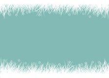 Gras op de blauwe achtergrond Vector Illustratie