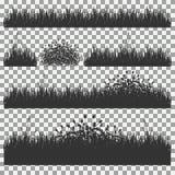 Gras, Sträuche Ein Satz verschiedene Arten des Grases Satz Gras auf einem transparenten Hintergrund Stockfoto