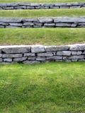 Gras terassenförmig angelegt stockfotografie