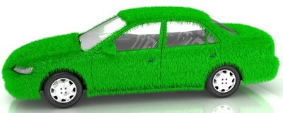 Gras umfasste Motor- eco Grüntransport Lizenzfreies Stockfoto