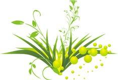 Gras und Zweige Stockbild