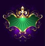 Gras van bannermardi royalty-vrije illustratie