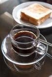 Gras van zwarte koffie Stock Fotografie