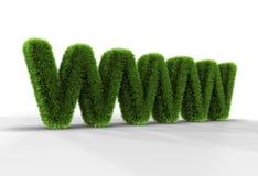 Gras WWW-Zeichen stock abbildung