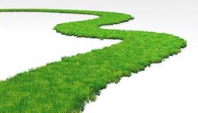 Grasartiger Weg vektor abbildung