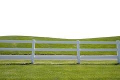 Grasartiger Zaun verkürzter Vordergrund Stockfotografie