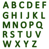 Grasartiges Alphabet Lizenzfreies Stockfoto