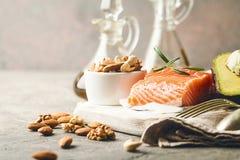 Grasas sanas en nutrición imagen de archivo libre de regalías