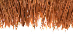 Grasdaken, op wit knipsel worden met stro bedekt dat als achtergrond Royalty-vrije Stock Fotografie