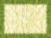 Grasgrenze auf Papier lizenzfreie stockfotografie
