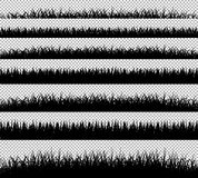 Grasgrenzschattenbildsatz Stockfotografie