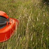 Grasknipsel - vreugden om het gras te maaien royalty-vrije stock foto's