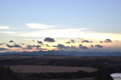 Grasland-Himmel im Winter Lizenzfreie Stockfotografie