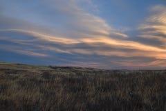 Grasland-Himmel im Winter Lizenzfreies Stockbild