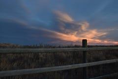 Grasland-Himmel im Winter Lizenzfreies Stockfoto
